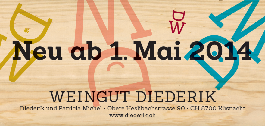 Plakat Eröffnung Weingut Diederik Bahnhof Küsnacht