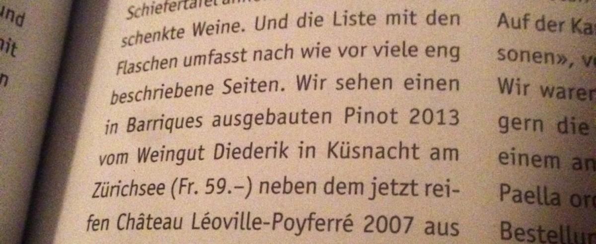 Pinot noir Barrique Weingut Diederik