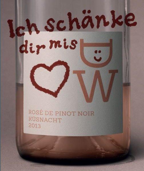 Ich schänke dir mis Herz - Rosé de Pinot noir - Küsnacht AOC Zürichsee - Weingut Diederik