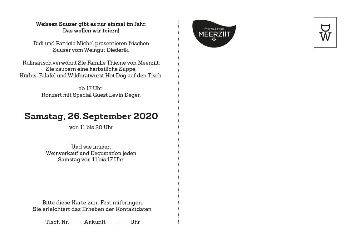 Suuserfest 2020 Weingut Diederik Küsnacht Zürichsee Swisswine